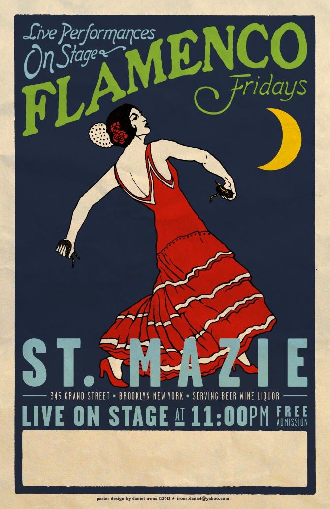 Flamenco Night at St. Mazie Brooklyn.