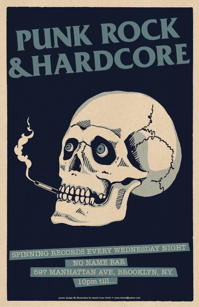PUNK & HARDCORE DJ night at NO NAME BAR Brooklyn
