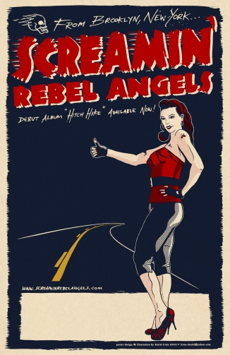 Screamin' Rebel Angels show poster