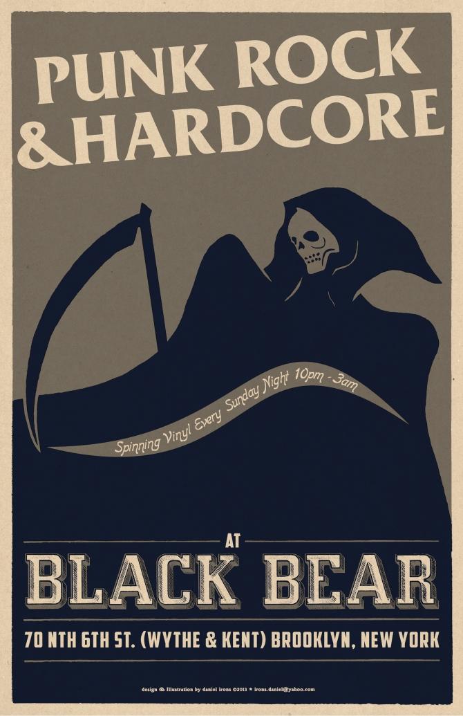 BLACK BEAR BAR Punk & Hardcore Vinyl night