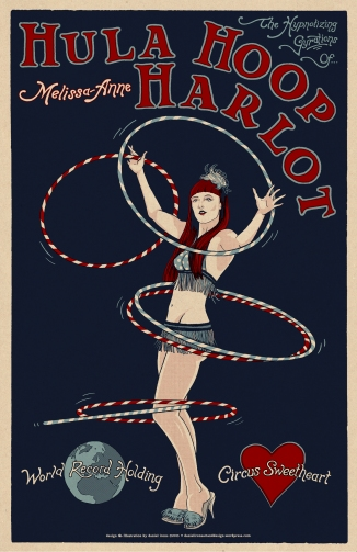 HULA HOOP HARLOT - Melissa-Anne show poster