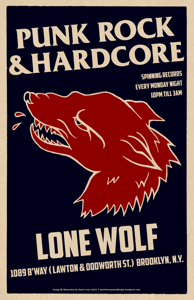 PUNK & HARDCORE NIGHT AT LONE WOLF BAR.