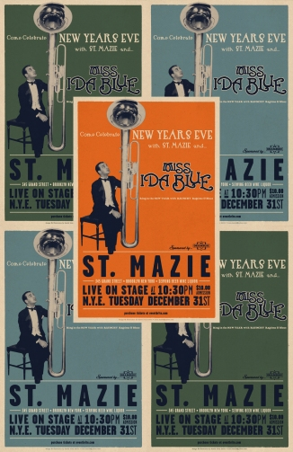 ST.MAZIE New Years Eve Posters with Miss Ida Blue 2014