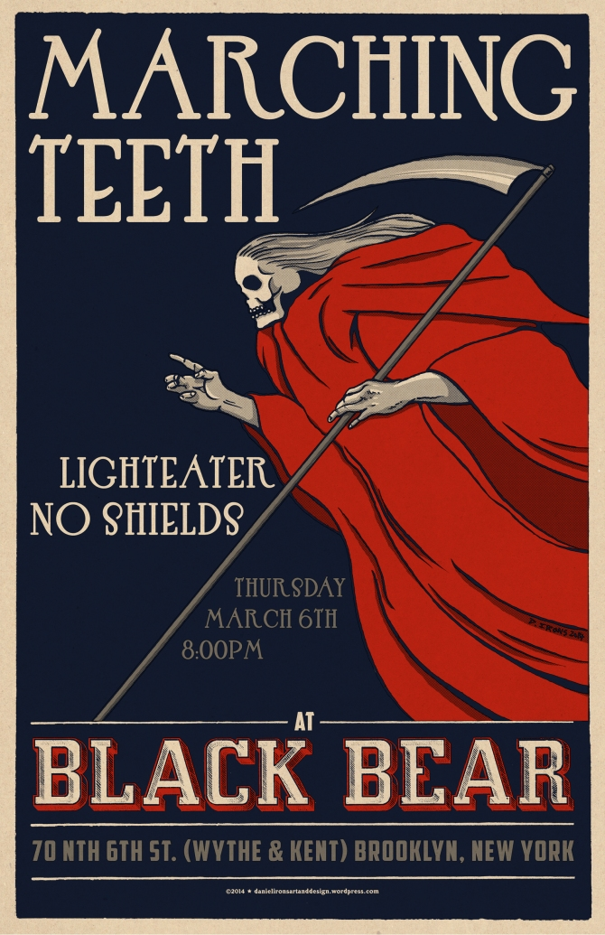 Poster for MARCHING TEETH.