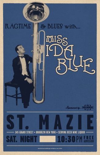 ST.MAZIE - MISS IDA BLUE SHOW POSTER