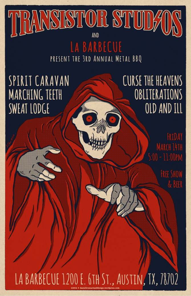 Transistor Studios 3rd Annual Metal BBQ 2014 Austin TX.
