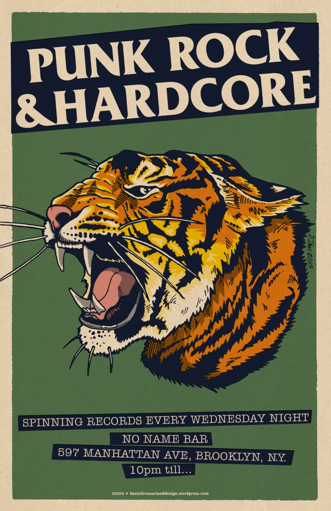 No Name Bar Poster - Tiger head
