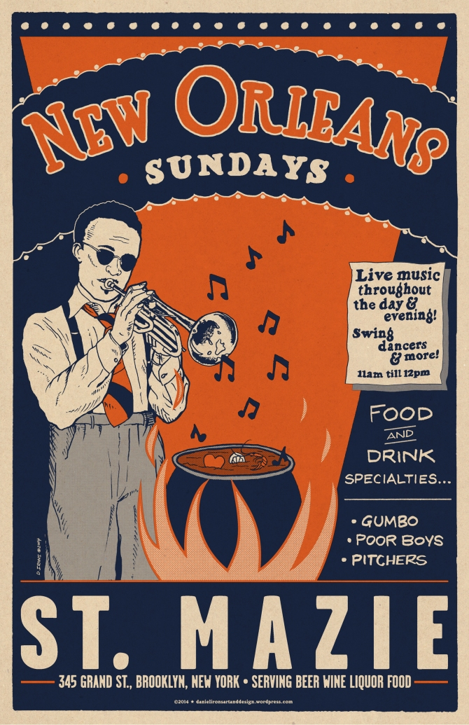 St. Mazie - New Orleans Jazz Gumbo poster