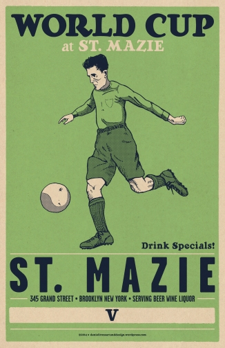 St.MAZIE World Cup 2014 Poster