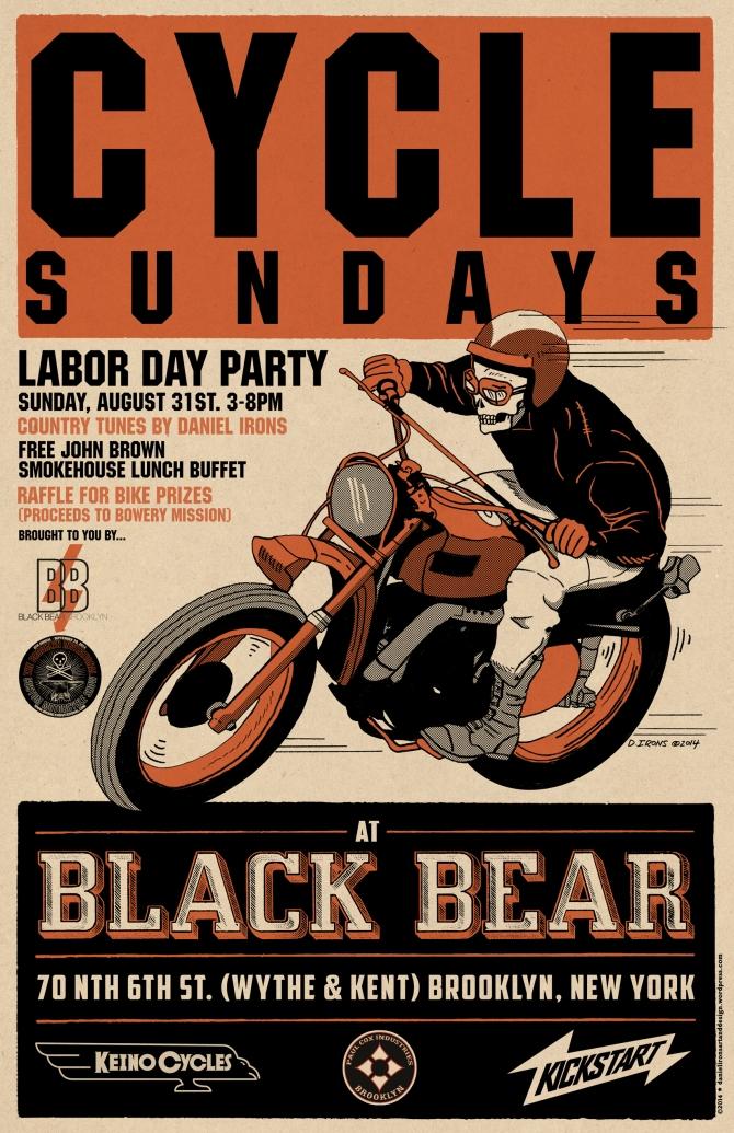 CYCLE SUNDAYS BLACK BEAR BAR LABOR DAY BBQ 2014