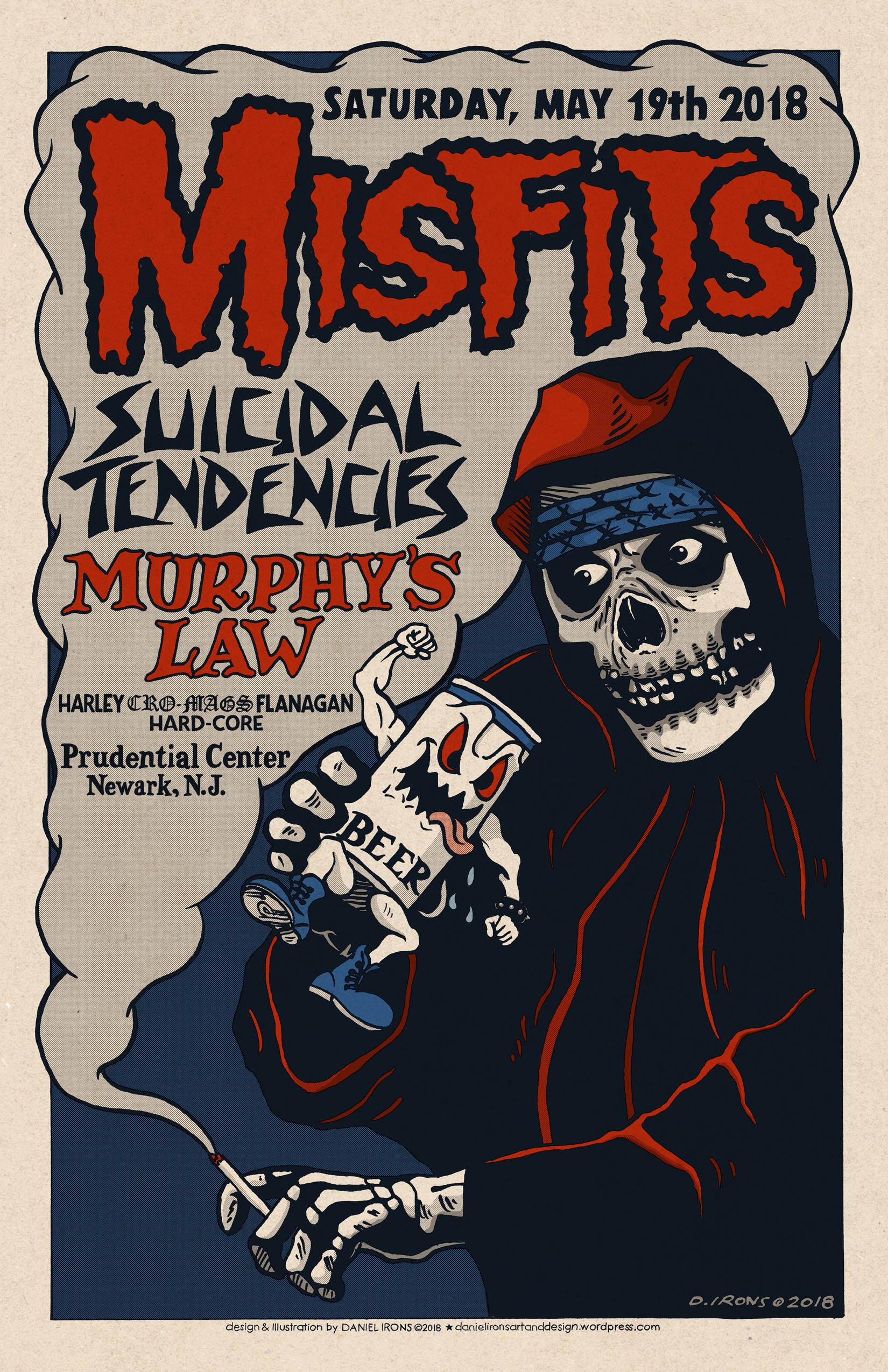 MISFITS / SUICIDAL TENDENCIES / MURPHY'S LAW / HARLEY (CRO